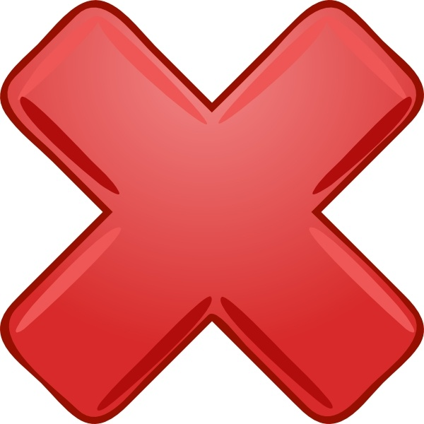 Red X Cross Wrong Not Clip Art Free Vector In Open Office Drawing