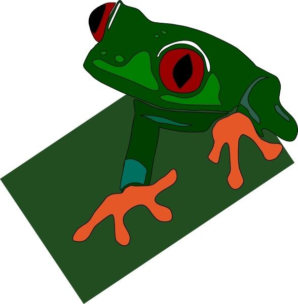 Red-eye Frog clip art