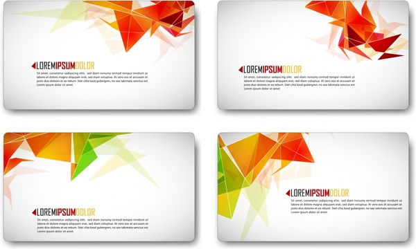 business card templates modern dynamic origami decor