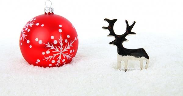 reindeer and christmas ball