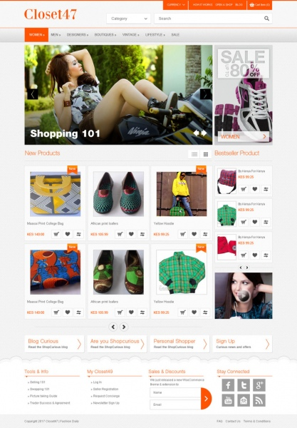 responsive shopping ecommerce template psd