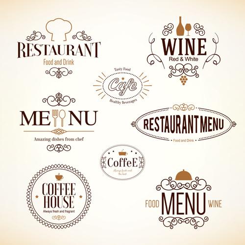 Restaurant food menu logos vector design free in