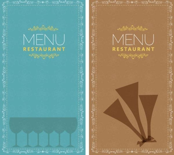 restaurant menu 02 vector
