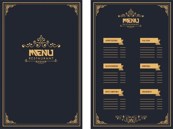 dinner menu template for home.html