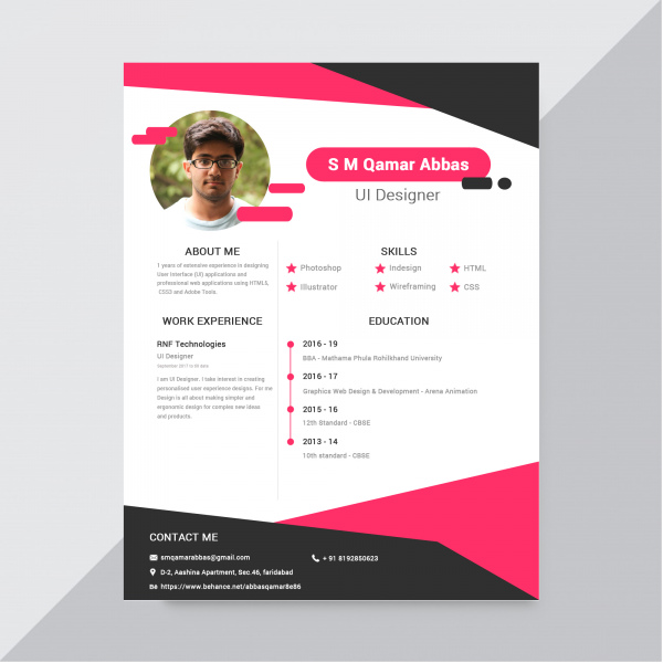 Resume Design Free Psd In Photoshop Psd Psd Format Format For