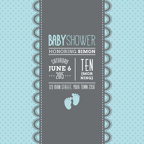 Retro Baby Shower Cards Vector Free Vector In Encapsulated