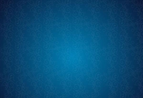 Retro Background Floral Blue Pattern