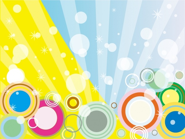 abstract rays background colorful sparkling circles decoration