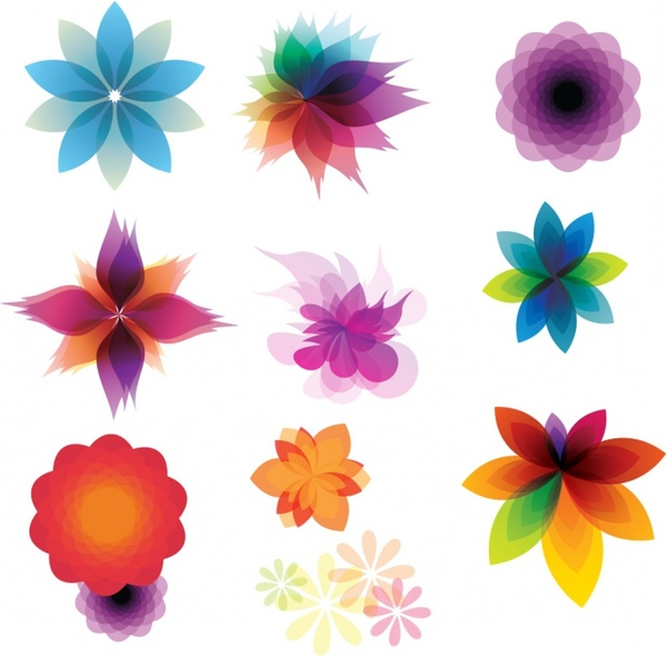 Retro Floral Ornaments