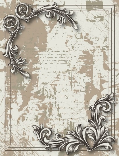 vintage decorative background european symmetrical grunge design