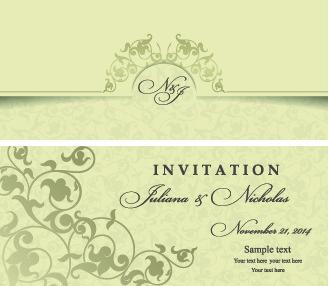 Retro floral wedding invitation cards vector free vector in retro floral wedding invitation cards vector stopboris Gallery