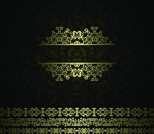 Retro Golden Ornaments Background Free Vector In