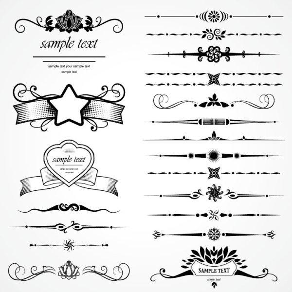 retro lace pattern 07 vector