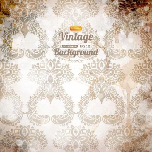 retro pattern background 03 vector