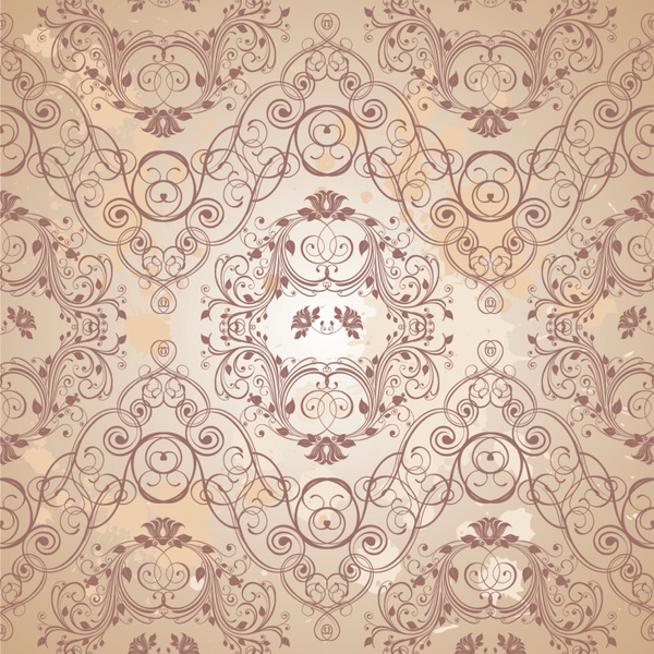 decorative pattern elegant retro european symmetric seamless