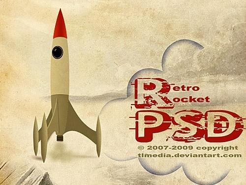Retro rocket PSD File