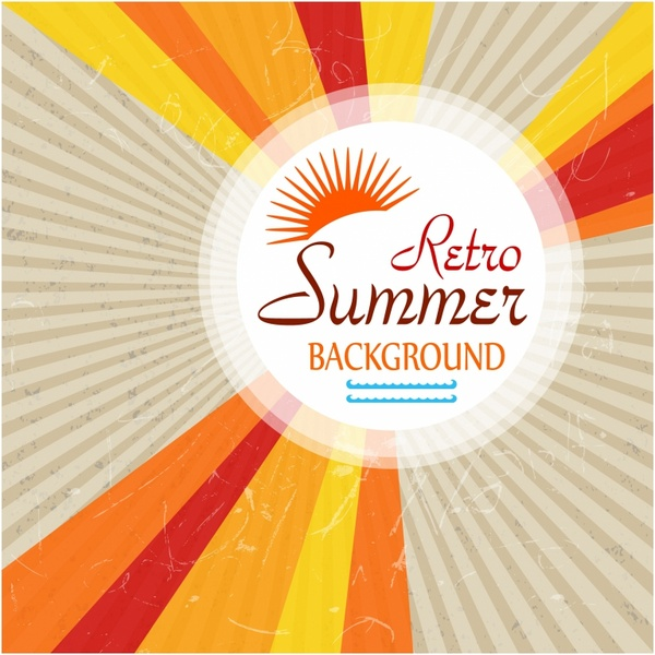 Retro Summer Background