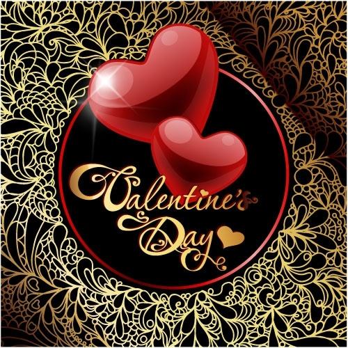 retro valentine39s day greeting card 01 vector