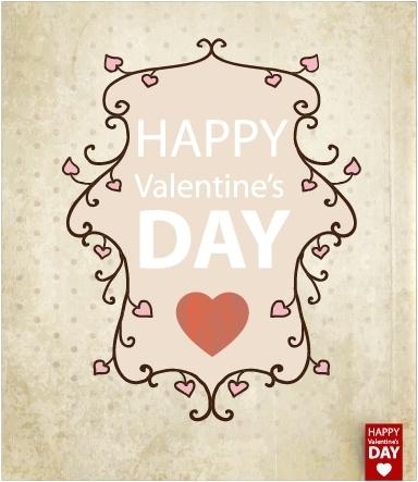 retro valentine background shading vector
