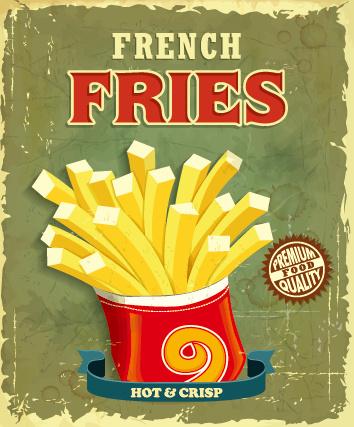 retro vintage fast food poster design vector free vector in
