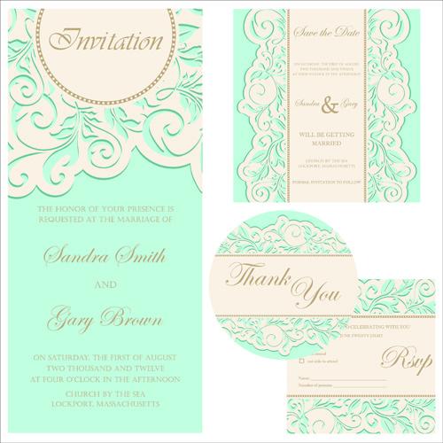 Editable Wedding Invitations Free Vector Download (3,834