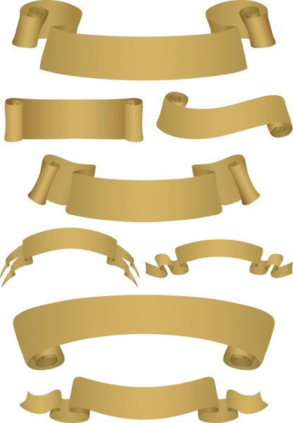 ribbons collection curl paper decor 3d design