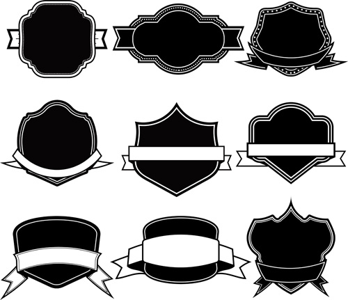 ribbon with labels blank template vector free vector in encapsulated