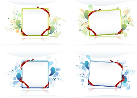 ribbon wound bulletin board with the trend pattern vector
