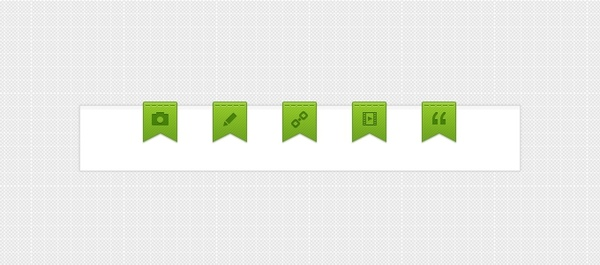 Ribbons for blog articles (PSD)