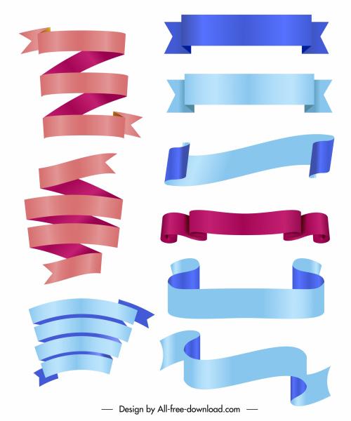 ribbons templates shiny modern curves design