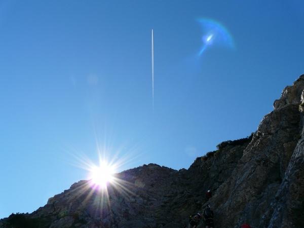 ridge mountain sun