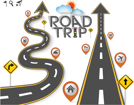 Road Traffic Schematic Vector Template Free Vector In