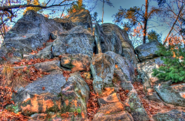 rock cropping up close at roche a cri state park