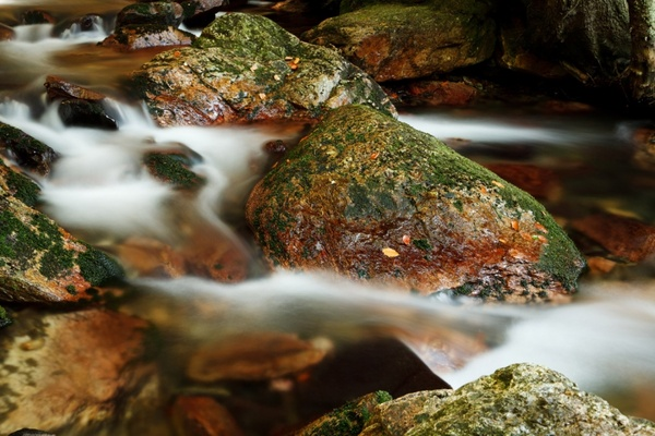 rocks and mountain stream