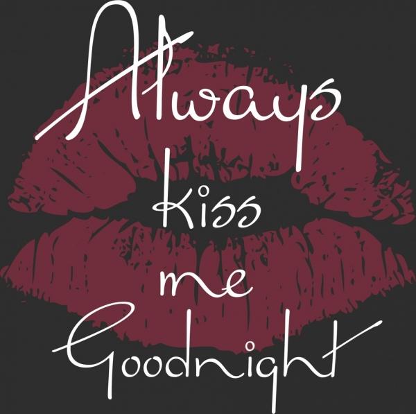 romance banner lips texts decor grunge dark design