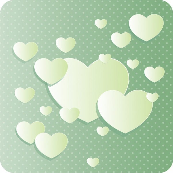 romantic background heart shapes decoration paper cut design