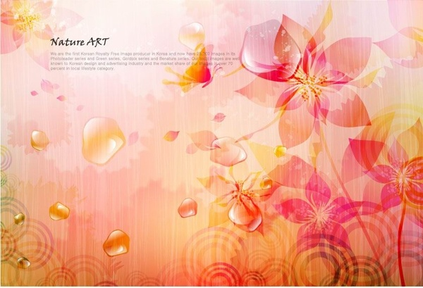 romantic floral pattern background vector design 4