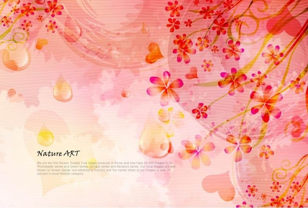 romantic floral pattern background vector design 5