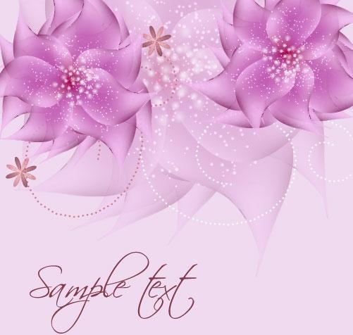 romantic flower background 01 vector