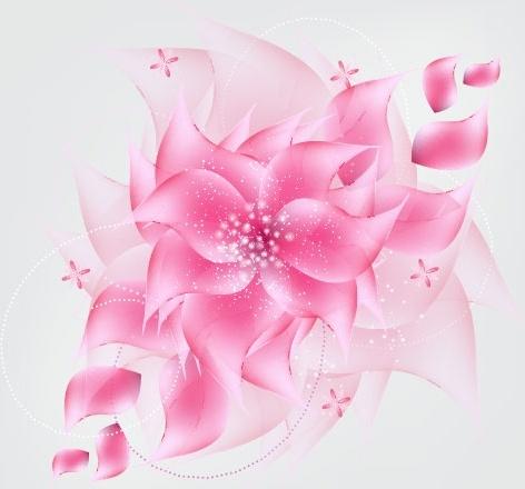 romantic flower background 03 vector