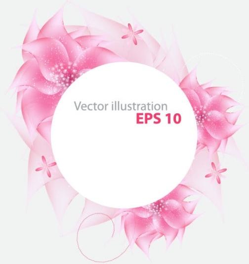 romantic flower background 04 vector