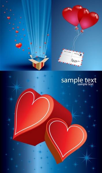 romantic gift of love vector