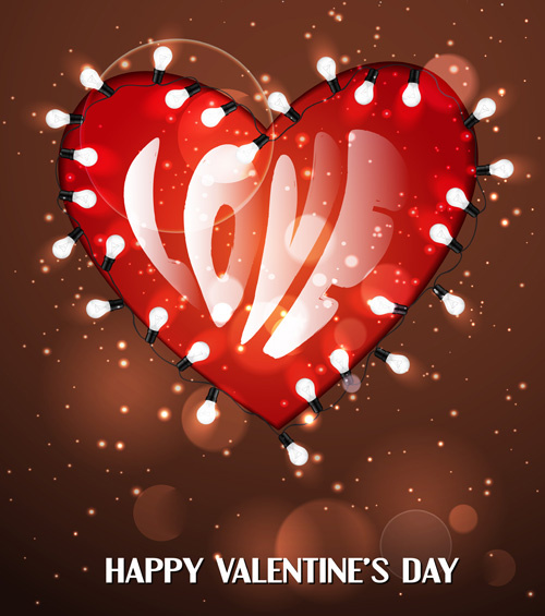 romantic happy valentine day cards vector