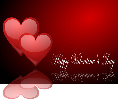 romantic happy valentine day cards vector