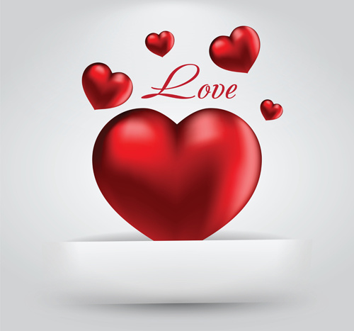 Romantic Happy Valentine Day Cards Vector Free Vector In