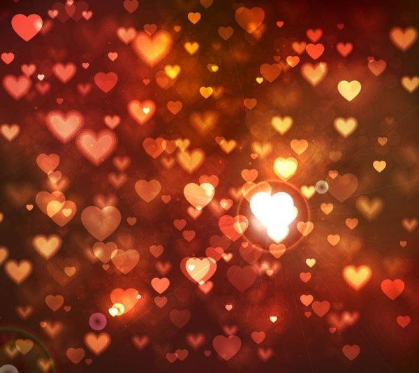 romantic heartshaped background 05 vector