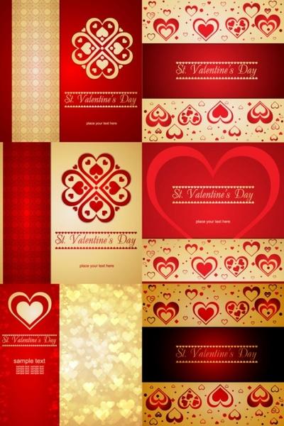 romantic heartshaped background pattern vector