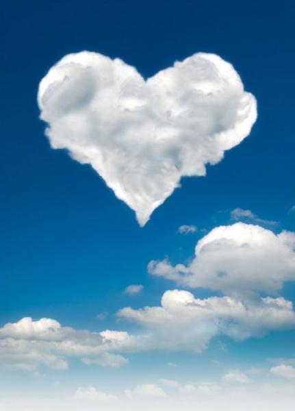 romantic heartshaped white clouds highdefinition picture 03