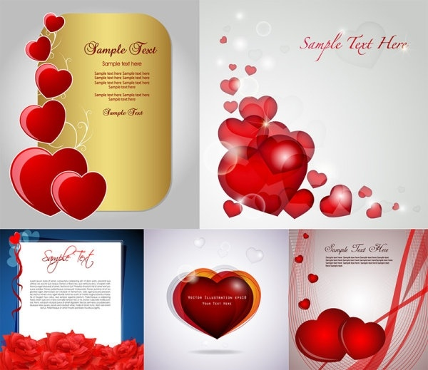 Romantic love card vector free vector in encapsulated postscript eps romantic love card vector m4hsunfo