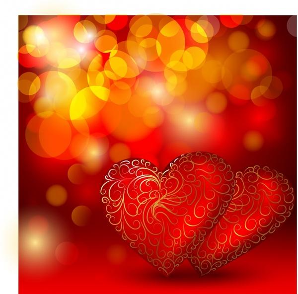 romantic love heart to heart vector